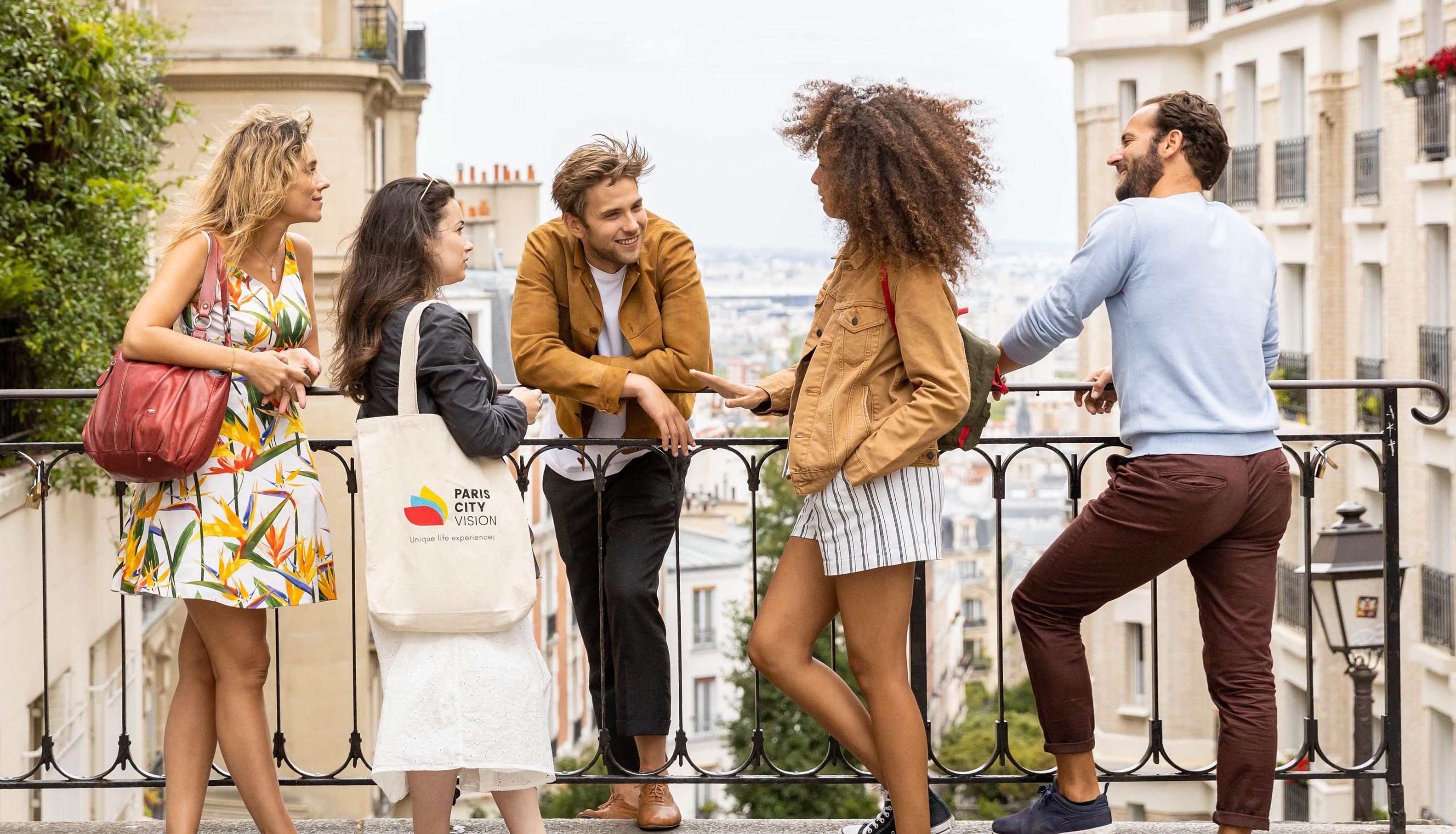 Walk through Montmartre district