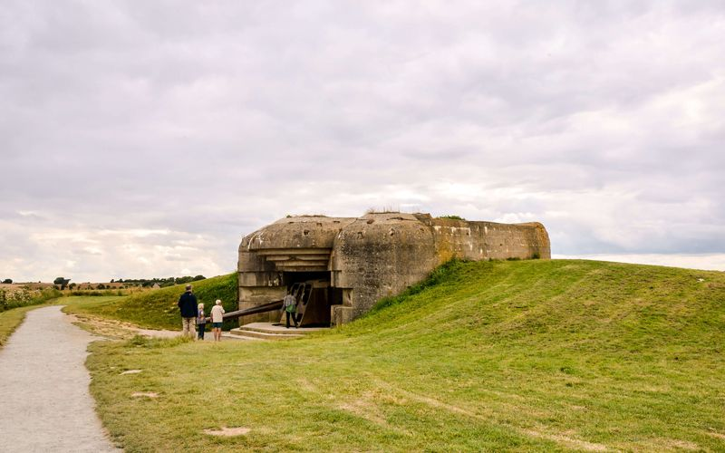 German battery at Longues-sur-Mer in Normandy