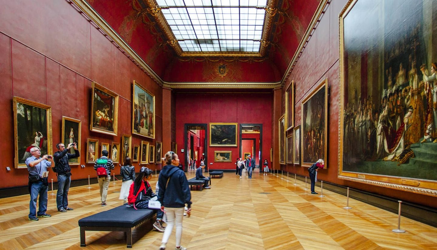 Masterpieces of the Louvre museum in Paris