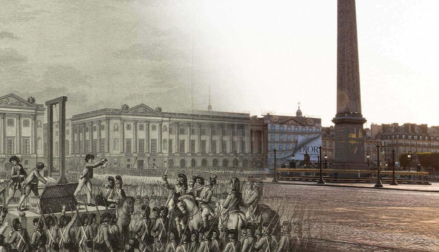 Place de la Concorde picture of yesterday and today