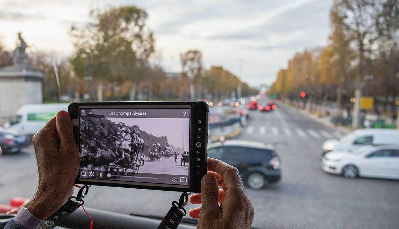 Visita aumentada de Paris com o HistoPad