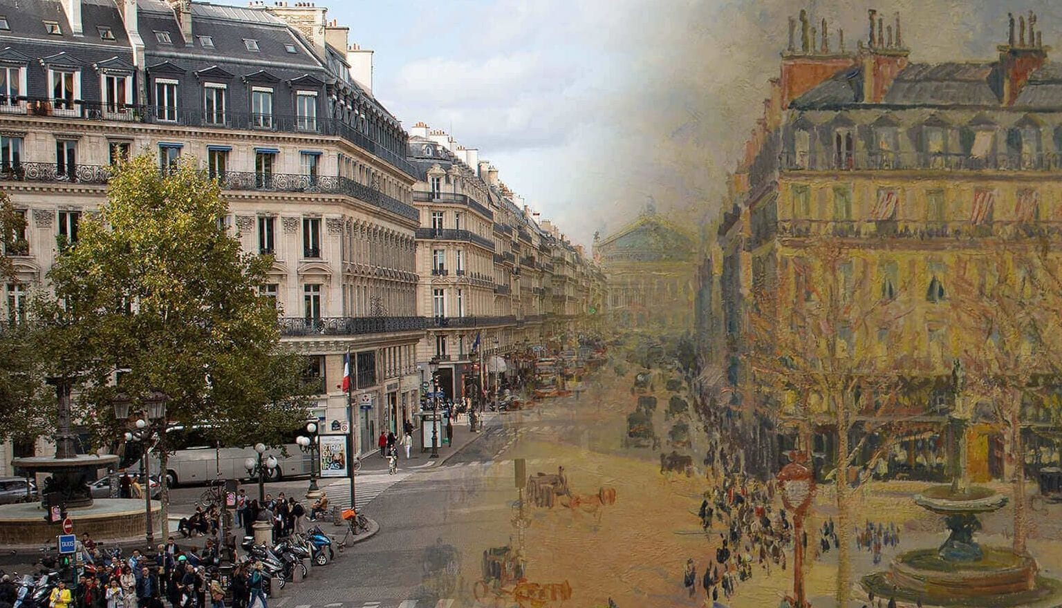 Yesterday and today picture of Place Colette in Paris