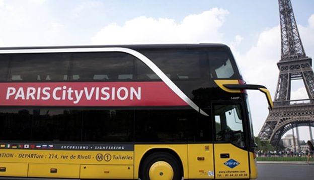 Visita a la ciudad en autobús City Vision de París