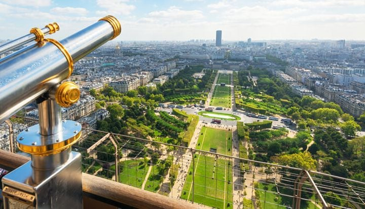 Discover Paris from the top of the Eiffel Tower