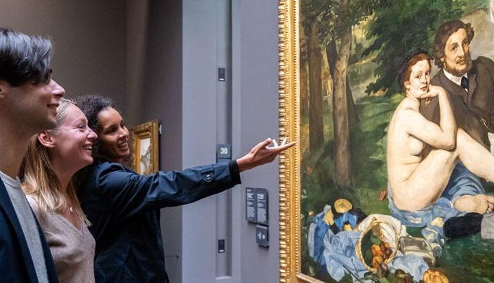 Magníficas pinturas dentro do musée d'Orsay em Paris