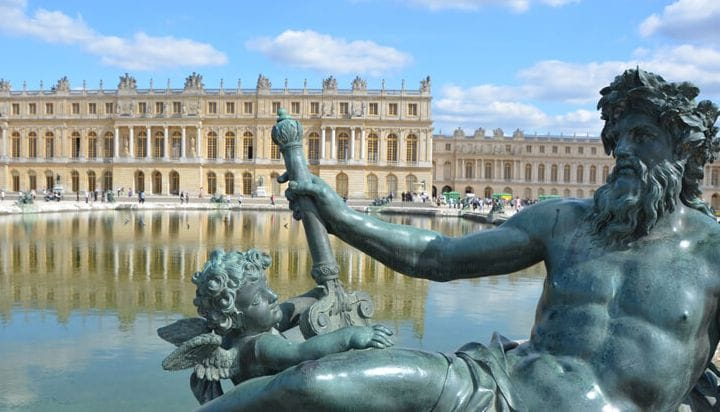 See the enormous gardens of Versailles