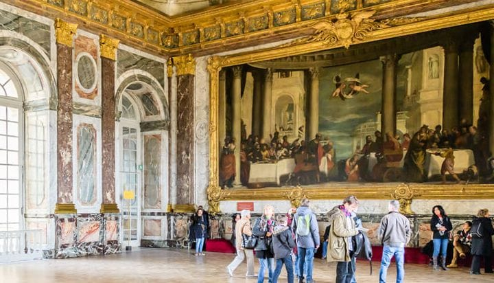 Visit the interior of the Palace of Versailles
