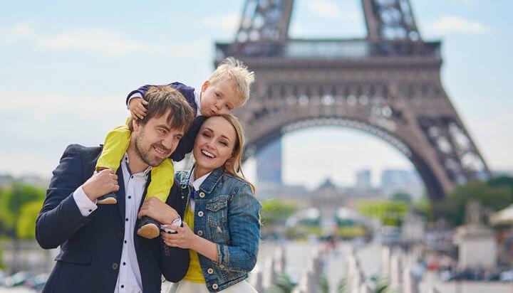 Visite el barrio de la Torre Eiffel con su familia