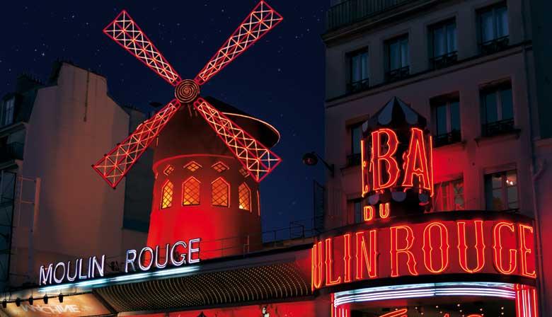 Dinner in Paris, cruise on the Seine, and a show at the Moulin Rouge