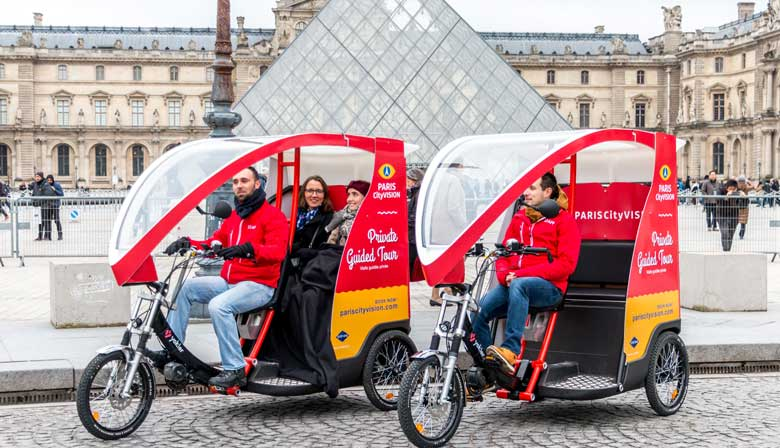 Private Guided Tour by Cyclo: Paris Highlights Opera, Louvre and Notre-Dame