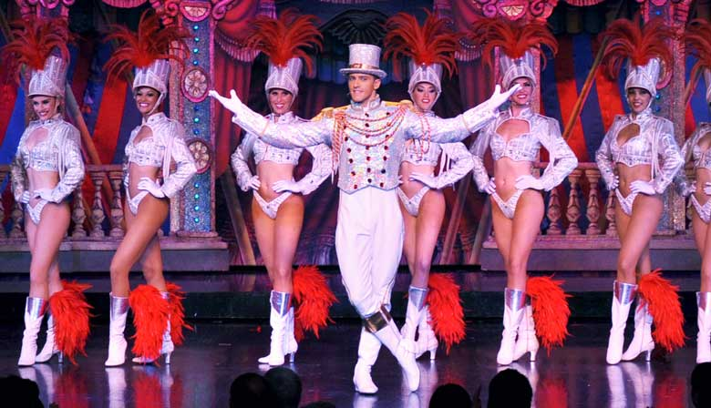 Circus Scenery of the Moulin Rouge show