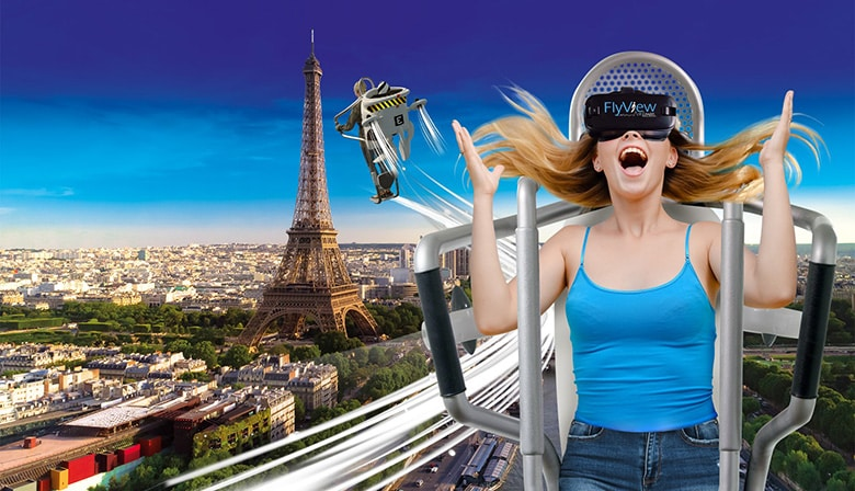 Fly over Paris in Virtual Reality with FlyView