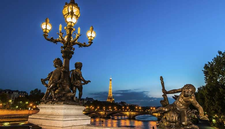 Paris by Night: City Tour by Open Top bus