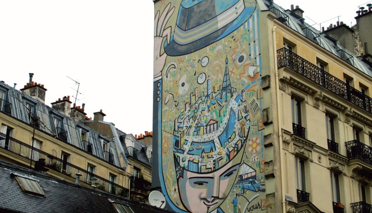 Parisian street art and graffitis