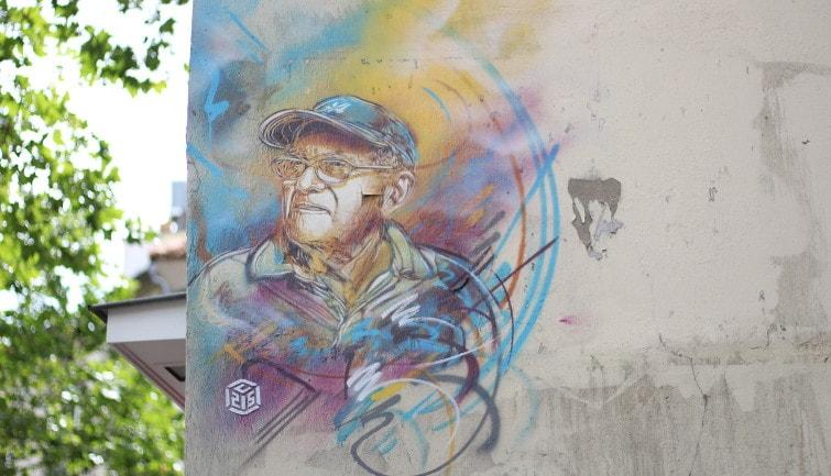 Parisian street art in the 13th arrondissement