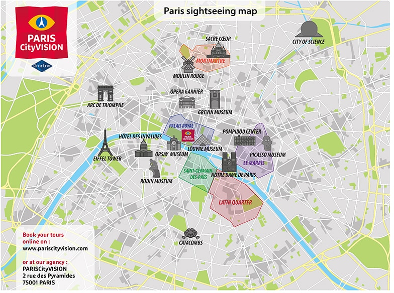 Paris Tourist Map: downloadable map – PARISCityVISION - PARISCityVISION