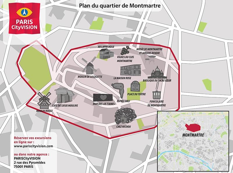 Plan De Montmartre A Telecharger Places Monuments